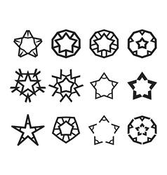 Star icon set vector