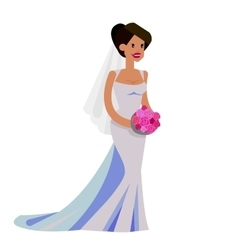 Happy wedding bride vector