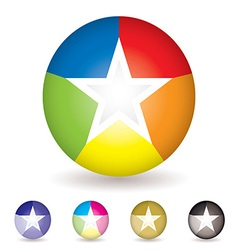 Rainbow ball icon vector image