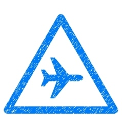 Airplane danger grainy texture icon vector