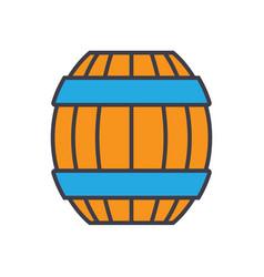 barrel flat line concept vector image
