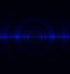 Blue circle abstract background vector