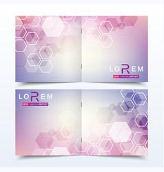 business templates square brochure magazine vector image