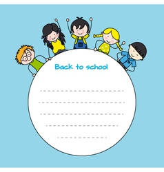 children back to school vector image vector image