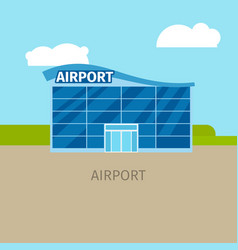 Colored airport building vector