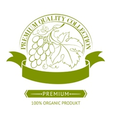 Design of label for wine vector image