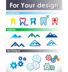 Elements for design vector