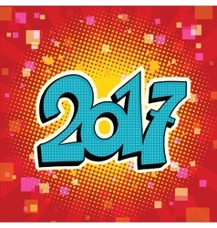 Figures 2017 symbol of the new year vector