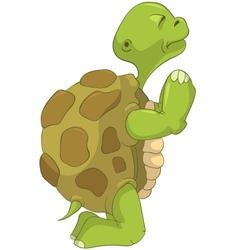 Funny Turtle Pray vector image vector image
