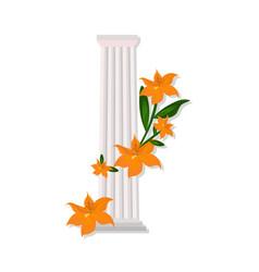 greek doric columns order vintage design vector image