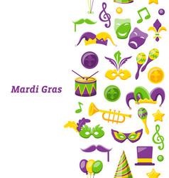Greeting invitation for mardi gras and carnival vector