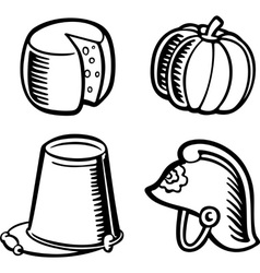 Isolated objects vector image vector image