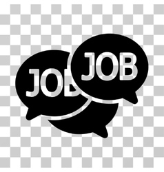 Labor market icon vector