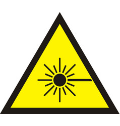 laser radiation sign vector image vector image
