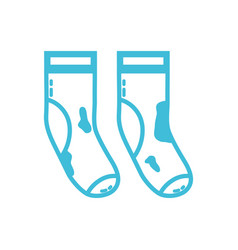 line dirty socks style design icon vector image