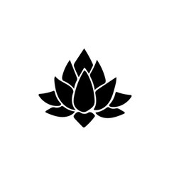 lotus icon isolated vector image vector image