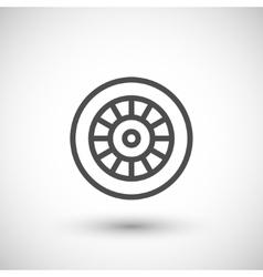 Motorcycle wheel line icon vector