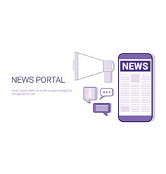 News portal concept template web banner with copy vector