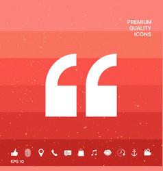 Quote symbol icon vector
