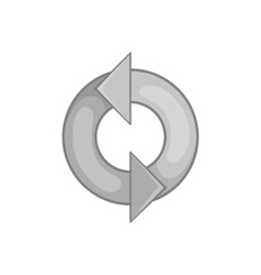 Refresh icon black monochrome style vector image
