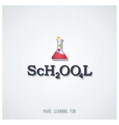 School - conceptual lettering design vector