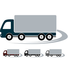 Set of signs with truck image vector