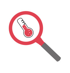 Thermometer medical device icon vector