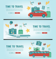 travel banners summer holidays travel and vector image vector image