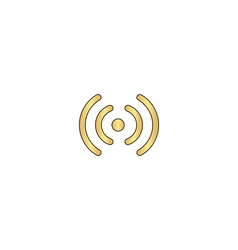 Wireless computer symbol vector image vector image