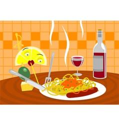 Wonders in the kitchen vector image vector image