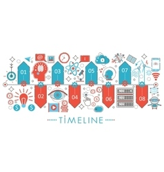 Modern Flat thin Line design Timeline concept for vector image