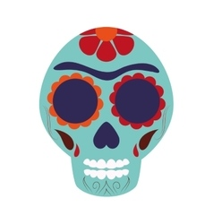 Mexican sugar skull icon vector