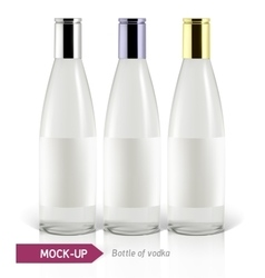 Mockup vodka bottle vector