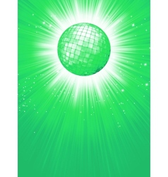 Green disco rays with stars EPS 8 vector image
