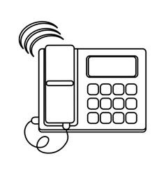 Isolated phone device design vector