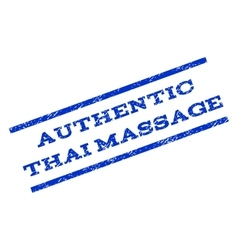 Authentic thai massage watermark stamp vector