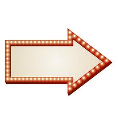 arrow lights sign vector image