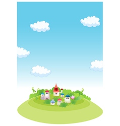 Rural houses vector