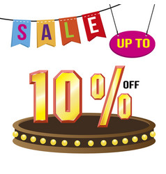Special 10 offer sale tag isolated vector