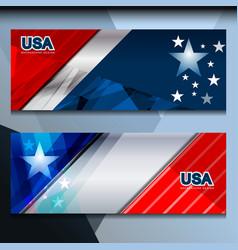 Usa flag banner design vector
