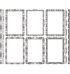 Rectangular frames vector