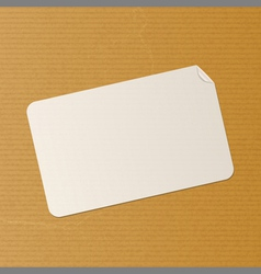 Label on brown paper background vector