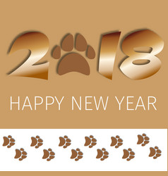 2018 text greeting card design template with vector image vector image