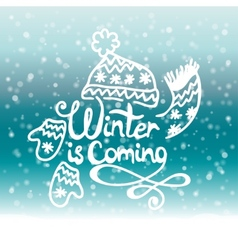 Winter is coming christmas background vector