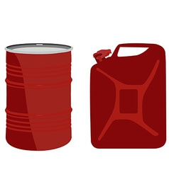 Red barrel and canister vector