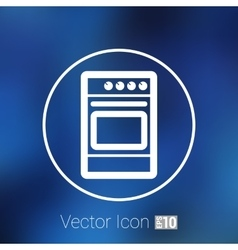Stove icon fuel hob meal electric blaze plate vector