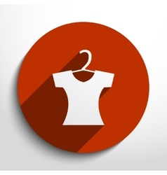 Clothes for women web icon vector