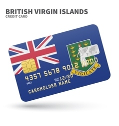 Credit card with british virgin islands flag vector