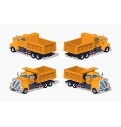 Empty orange dumper vector