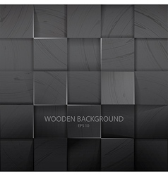 Stack of the dark wooden background vector